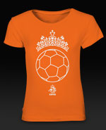 KNVB Voetbal Prinses Girl's T-Shirt - Orange