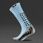 Trusox Mid-Calf Thin Crew Socks 2.0 - Sky Blue/Black