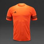adidas Entrada 14 SS Jersey - Solar Orange/Black