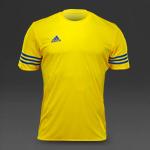 adidas Entrada 14 SS Jersey - Yellow/Bold Blue