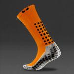 Trusox Mid-Calf Thin Crew Socks 2.0 - Orange/Black