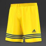 adidas Entrada 14 Shorts - Sun/Cobalt