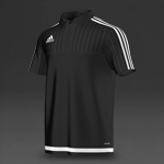 adidas Tiro 15 CL Polo - Black/White